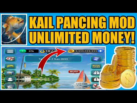 GAME KAIL PANCING MOD UNLIMITED MONEY FISHING HOOK