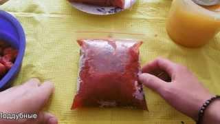 Заготовка клубники на зиму наш рецепт Strawberry frozen recipe