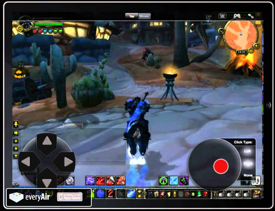 Everyair Play World Of Warcraft On Your Ipad Youtube