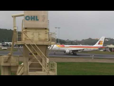 Airbus A320 Aterrizaje en Alvedro