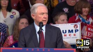 FULL: Senator Jeff Sessions reacts to St. Louis debate at Pennsylvania Trump rally Free HD Video