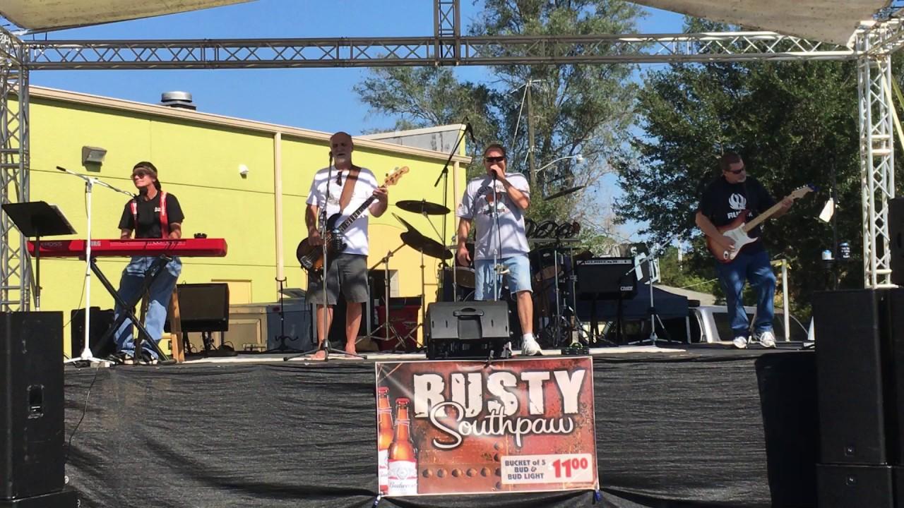 rusty southpaw at bert's black widow harley-davidson - youtube