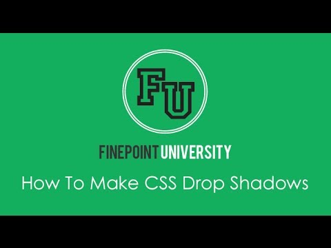 How To Make CSS Drop Shadows