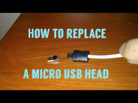 How to replace a micro USB head