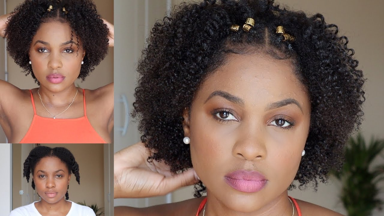 Easy Protective Style Back To School Hairstyle On Short Medium Length Natural Hair Youtube
