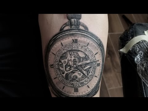 CLOCK TATTOO IN REAL TIME , BY Ninja CRIS TIMELESS  GHERMAN