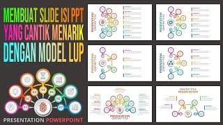 Cara Membuat Slide Isi PPT yang Menarik dengan Bentuk Lup - Part # 1
