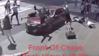 Driver crashes car into pedestrians in New York City's Times Square