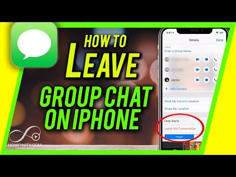 How To LEAVE Group Chat On IPhone