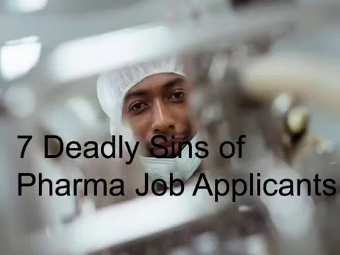 Webinar -  The 7 Deadly Sins of Pharma Job Applications