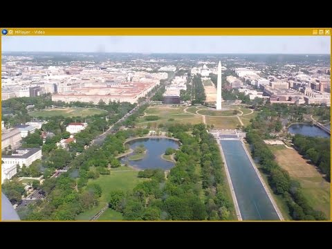 Potomac River visual approach to Washington National