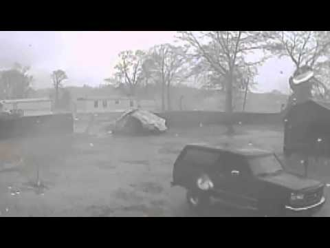 2.24.16 Roof Ripped Off Mobile Home Crashes Into Fence
