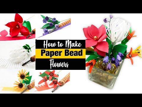 How to Make Paper Bead Flowers