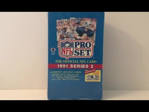 1991 Pro Set Series 1 Football Card Box Break! Bill Belichick RC Hunt!
