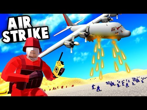 Epic AC-130 Plane AIRSTRIKE Destroys Entire Enemy Base
