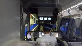 2019年9月27日,東京モノレール 10070F(2019年新製) 空港快速 羽田空港-浜松町 前面展望 ノーカット