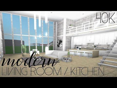 ROBLOX | Welcome To Bloxburg: Modern Living Room/Kitchen 40k - YouTube