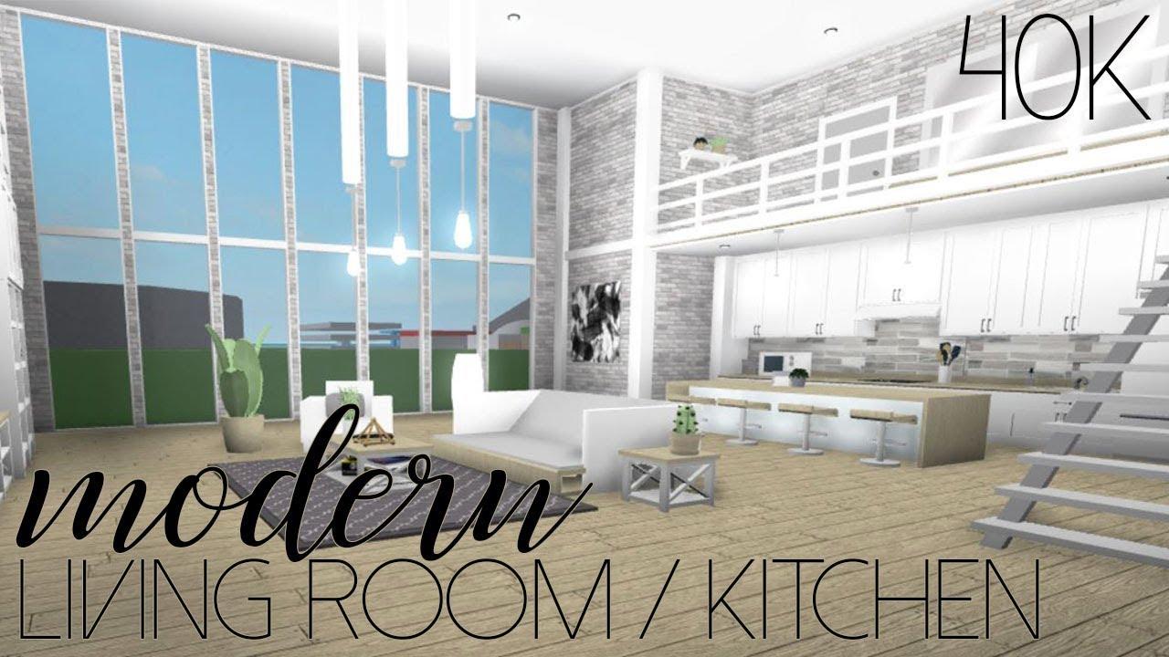 ROBLOX | Welcome to Bloxburg: Modern Living Room/Kitchen ...