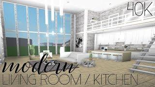 ROBLOX | Bem-vindo ao Bloxburg: sala de estar moderna/cozinha 40k