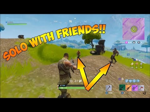 HOW TO GET INTO A SOLO GAME WITH YOUR FRIENDS! - Fortnite Battle Royale