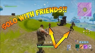 COMMENT À GET INTO A SOLO GAME WITH YOUR FRIENDS! - Fortnite Bataille Royale