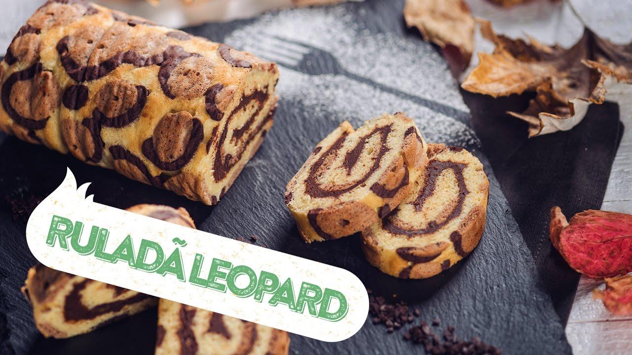 Reteta - Rulada leopard cu crema de ciocolata