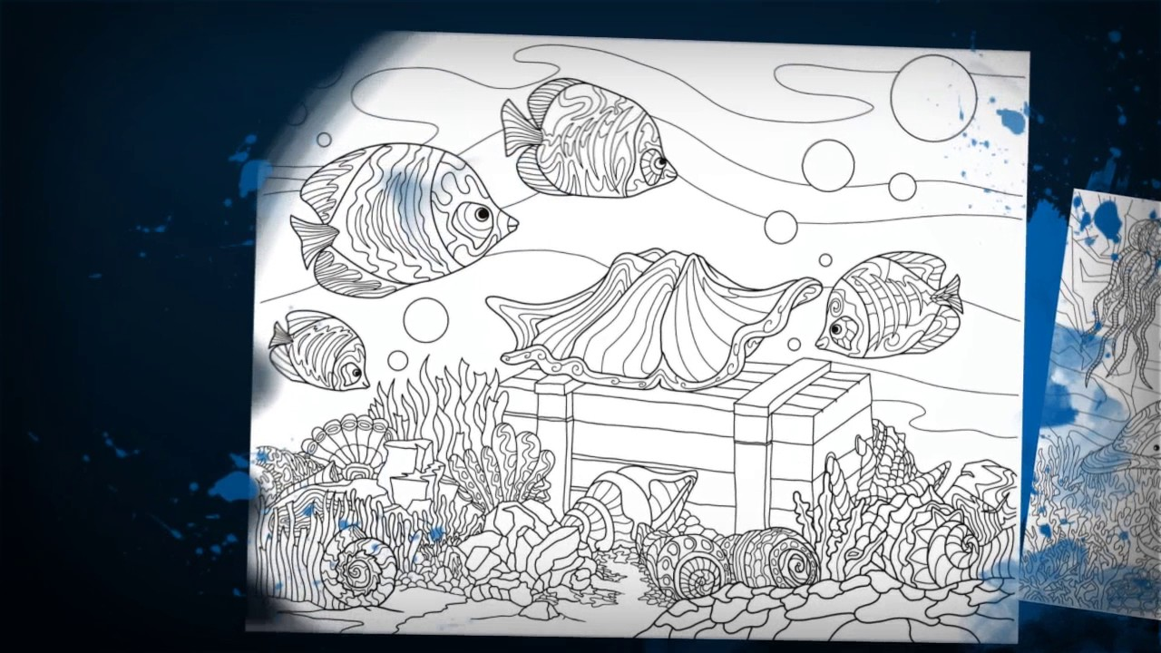 Colors Of The Ocean Adult Coloring Book By ColorIt