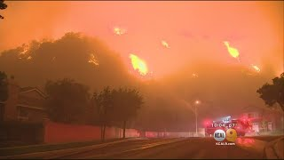 Some Evacuees Of Canyon Fire In Corona Have Been Allowed To Return Home