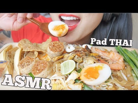 ASMR PAD THAI ผัดไทย (EATING SOUNDS) NO TALKING | SAS-ASMR