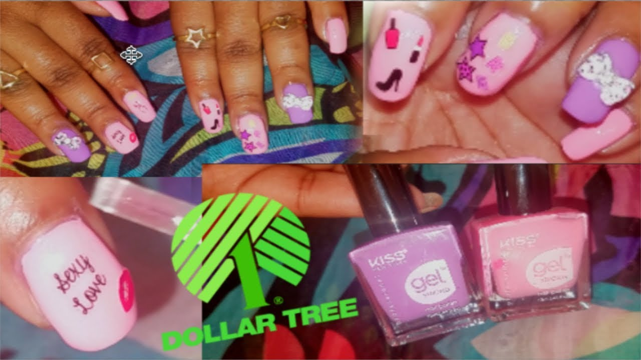 💖💅🏽 😱 $1 Dollar Tree Nail Spa Tutorial |KISS NY Gel Nail Polish ...