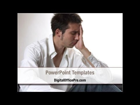 depression powerpoint template backgrounds - digitalofficepro, Modern powerpoint