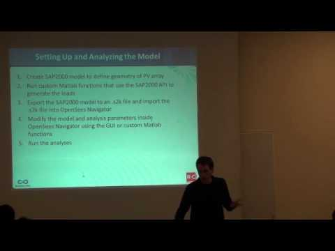 OpenSee 2012 - Analysis of Wind Load Effects on PV Solar Roof Breaking Arrays