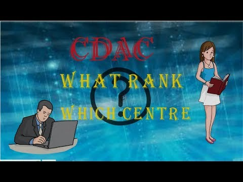 CDAC What Rank?Which Center?