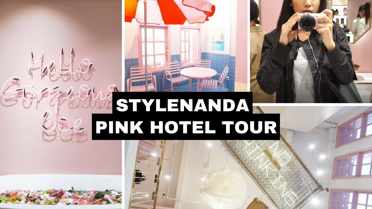 stylenanda pink hotel tour myeongdong i annyeounghanna - youtube