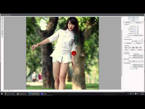 Cách kéo dài chân trong photoshop