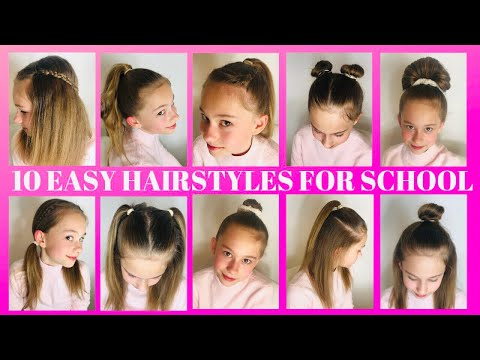 10 QUICK & EASY HAIRSTYLES FOR SCHOOL!