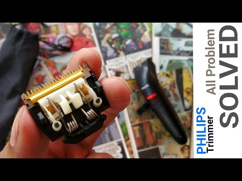 Philips Trimmer Cleaning | How to Dismantle Blade Setup | How to Remove and Attach Spring
