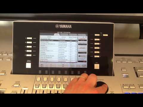 Using 'Music Finder' on Yamaha Tyros - Part Two - Arranging your songs