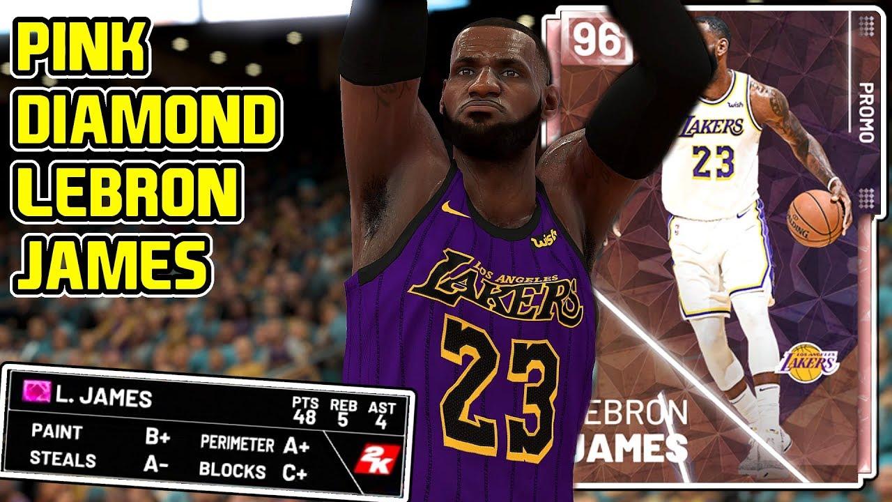 *FREE* PINK DIAMOND LEBRON JAMES GAMEPLAY! HES A WALKING BUCKET! NBA 2k19 MyTEAM - YouTube