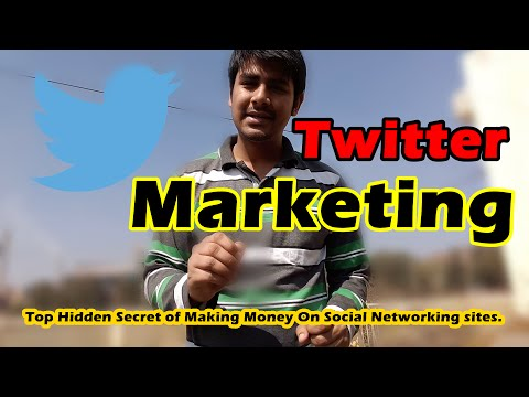 How to make money with Twitter  (Twitter MARKETING)