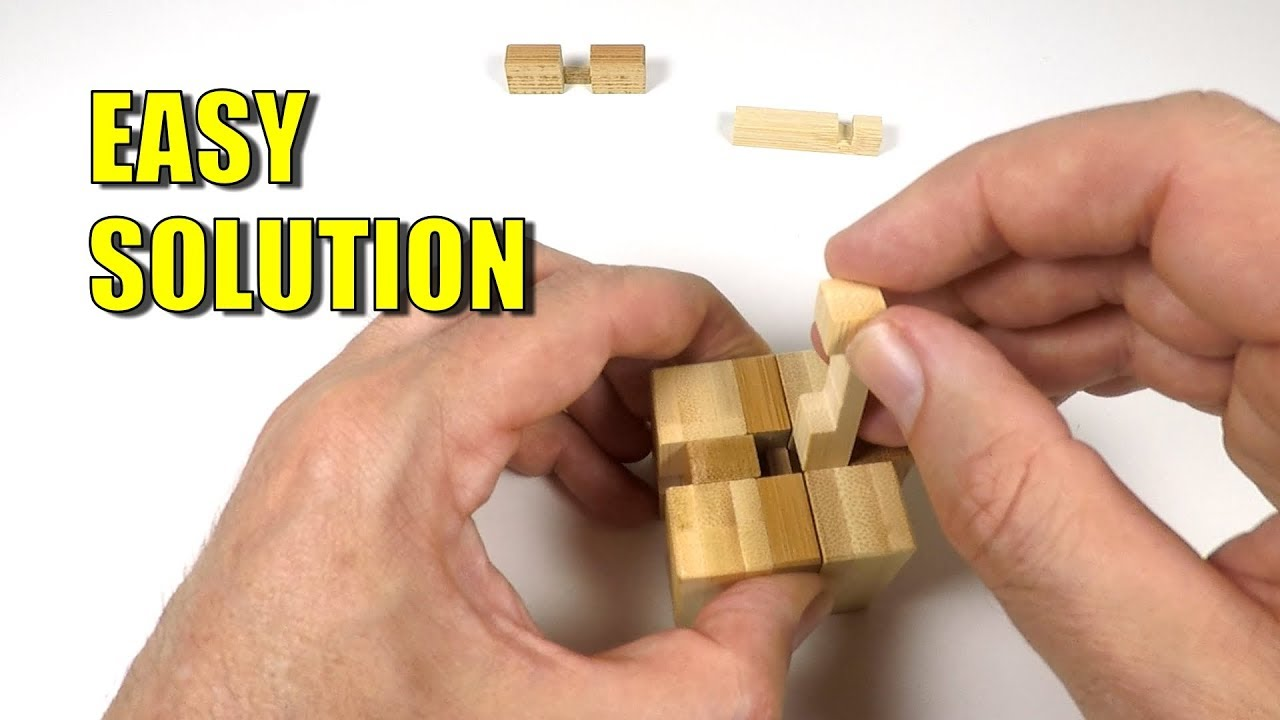 Wooden Burr Puzzle Cube Solution 12 Piece Cube Puzzle