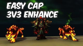 Capping Easy (3v3) - 7.3.5 Enhancement Shaman PvP - WoW Legion