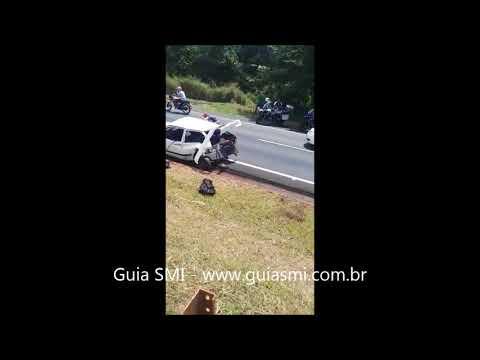 BR - 277: Colisão traseira e registrada em São Miguel do Iguaçu
