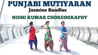 Punjabi Mutiyaran - Jasmine Sandlas | BollyBhangra Dance Choreography & Tutorial | Nidhi Kumar