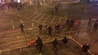 Смотреть видео Фанаты Спартак Москва VS Атлетик Бильбао онлайн