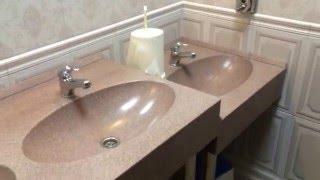 каменные столешницы в ванну с влитыми мойками из камня KAMEX производство АПАРХ г. Рязань(столешница для ресторана из искусственного камня KAMEX тел для заказа +7 930 8750875., 2016-02-03T16:41:07.000Z)