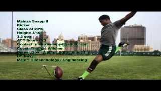 Mainza Snapp - Kicker Cass Tech High School Detroit, Michigan