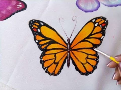 Como Pintar Mariposa Monarca How To Paint Monarch Butterfly