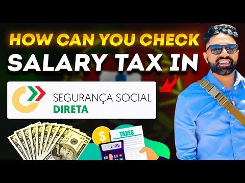How can you check salary tax in Segurança social DIRETA.
