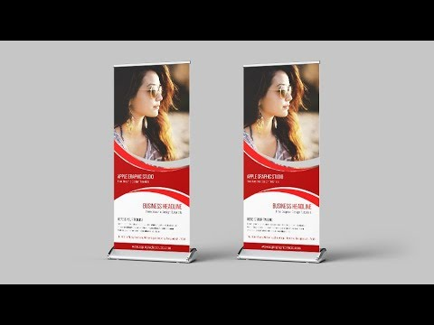 Make An Outstanding Roll Up Banner - Photoshop Tutorial